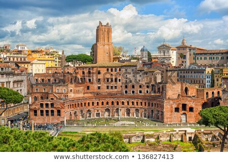 The ruins of Trajan's Market in Rome. Italy Stock photo © dezign80