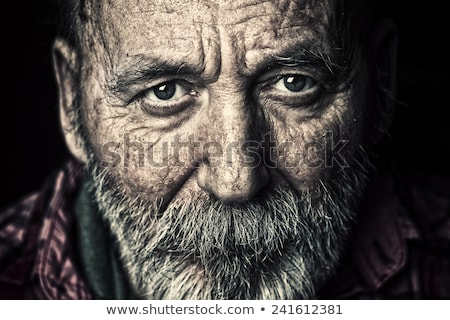Human face of an old man Stock photo © bluering