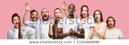 Girl heads with facial expressions Stock photo © bluering