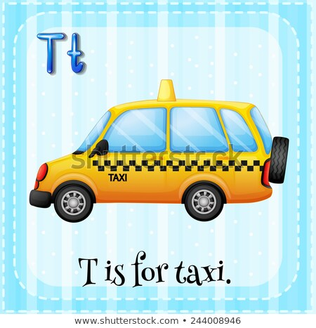 Letra t táxi ilustração carro fundo arte Foto stock © bluering