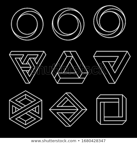 三角形 · アイコン · 不可能 · 錯覚 · 孤立した - ストックフォト © said