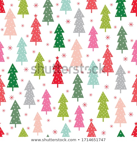 abstract art vector background christmas tree seamless pattern stock photo © galyna