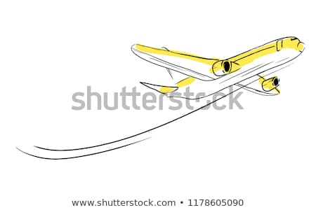 Travel by plane sketch icon. Stock photo © RAStudio