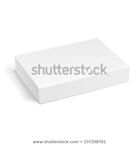 Closed white box, 3D stock photo © djmilic