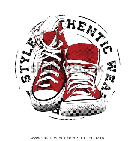 sneakers graphic design for tee vector Stock photo © Andrei_