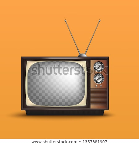 Stock photo: tv set retro old vintage device vector illustration