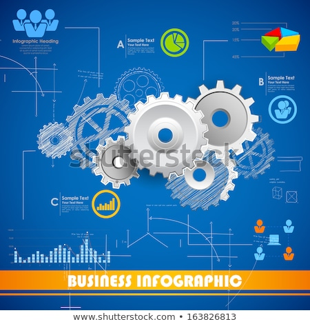 Vector Infographic blueprint report template Stock photo © orson