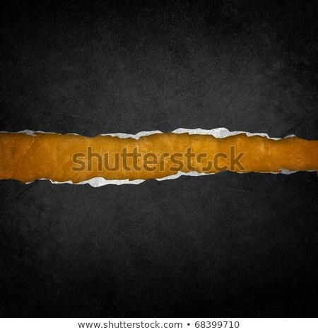 золото черный рваной бумаги шаблон текстуры дизайна Сток-фото © fresh_5265954