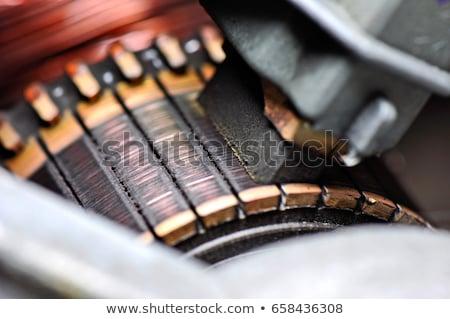 Koolstof borstel zwarte energie ring elektrische Stockfoto © clarion450