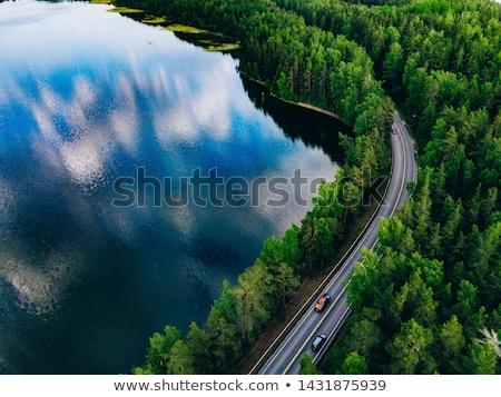 Finnország · nyár · gyönyörű · természet · napos · nap - stock fotó © Estea