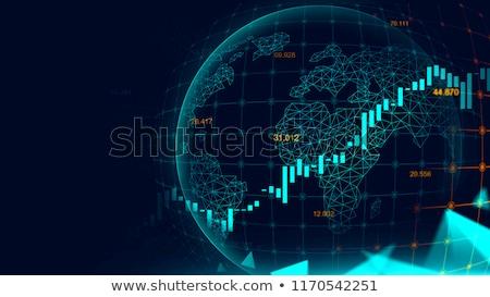 3D · forex · kereskedés · 3d · render · üzlet · hálózat - stock fotó © olivier_le_moal
