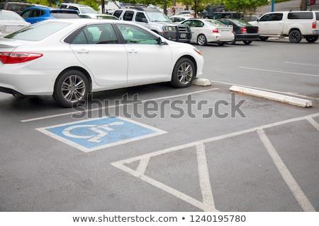 niebieski · handicap · podpisania · parking · Francja · drogowego - zdjęcia stock © njnightsky