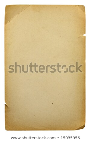 Stock photo: Burned Beige Parchment Paper Isolated on White