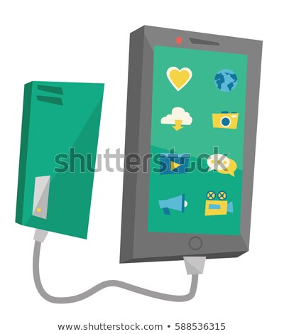 Portátil bateria vetor projeto ilustração Foto stock © RAStudio