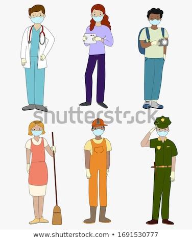 polícia · policial · mulher · policial · tiroteio · armas - foto stock © rastudio