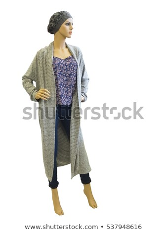 Mannequin dresses in female knit tunic and jeans Stock photo © gsermek