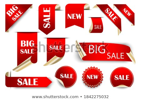 Set of Christmas discount tickets, labels, stamps Stock photo © orson