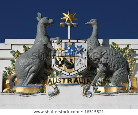 Ausztrál kabát karok pajzs Stock fotó © Bigalbaloo