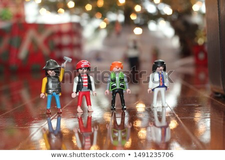 Plastic soldier toys in four colors Stock photo © bluering