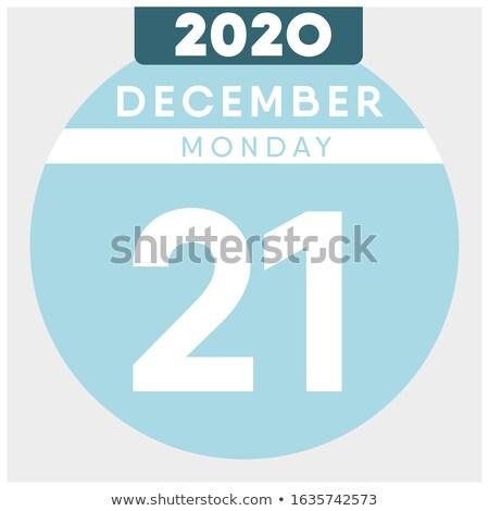 декабрь календаря двадцать первый Сток-фото © Oakozhan