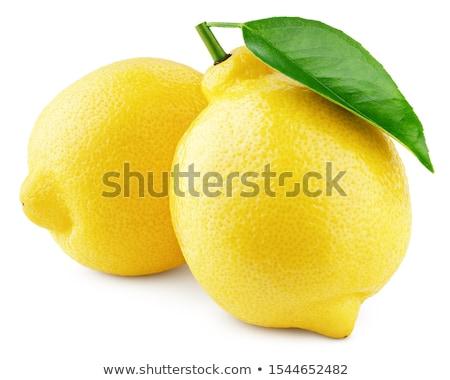 クローズアップ ショット 緑 黄色 レモン 孤立した ストックフォト © Nobilior