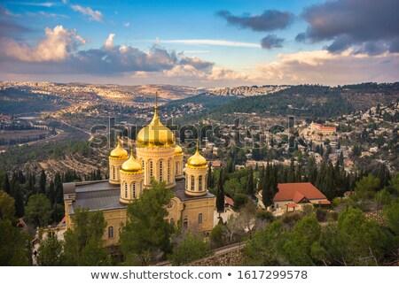православный · Церкви · красный · глубокий · Blue · Sky · дерево - Сток-фото © smartin69