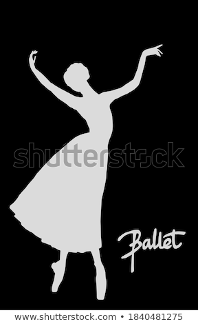 Ballerina in black outfit posing on pointe shoes, studio background. Stock photo © master1305