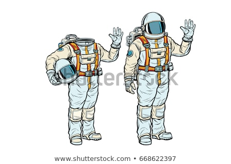 астронавт голову Поп-арт ретро Сток-фото © studiostoks