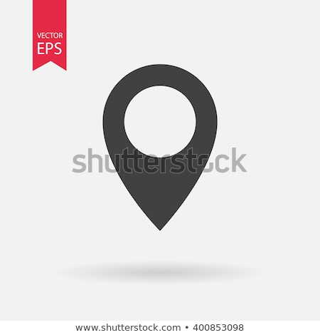 Isolated location icon for maps on a black and white background Stock photo © Imaagio