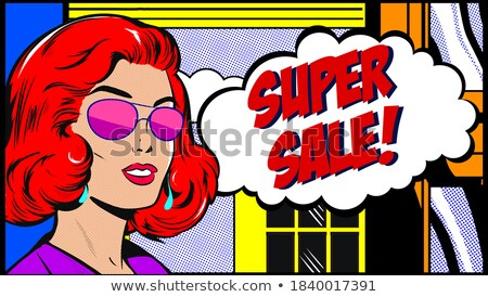 Ups mujer hermosa gafas de sol arte pop retro Foto stock © studiostoks