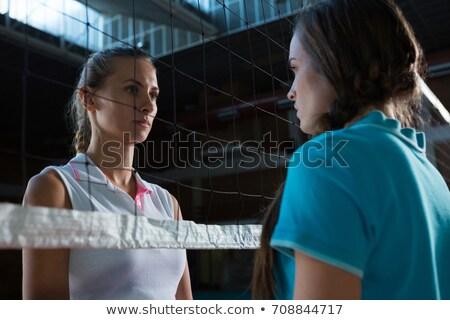 Aggressivo femminile pallavolo giocatori guardando altro Foto d'archivio © wavebreak_media