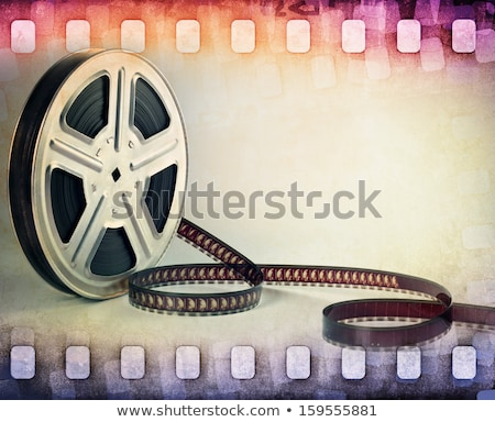 abstract background with filmstrips stock photo © illustrart
