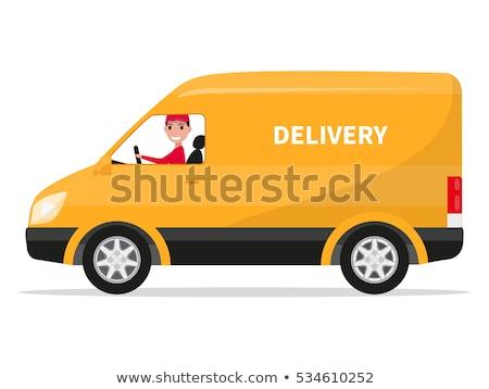 Post coche Cartoon estilo mail entrega Foto stock © MaryValery