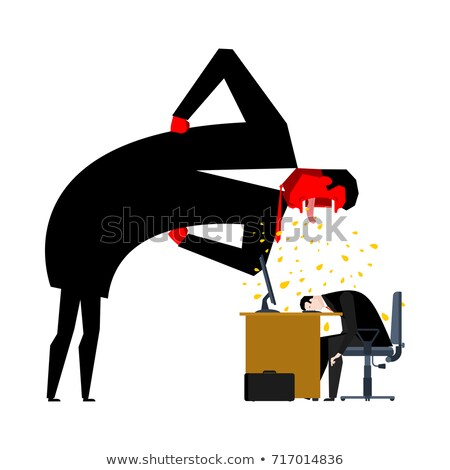 Stok fotoğraf: Angry Boss Yelling Office Life Businessman Screaming Vector I