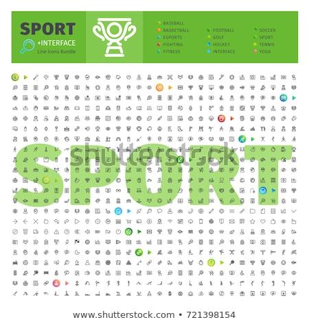 Esportes coleção linha ícones grande Foto stock © Voysla