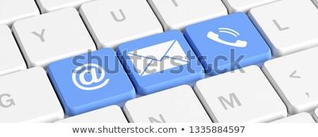Keyboard with Blue Key - Contacts. 3D Illustration. Stock photo © tashatuvango