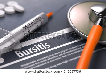 Bursitis Diagnosis. Medical Concept. Composition of Medicaments. Stock photo © tashatuvango
