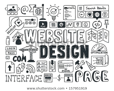 手描き ウェブサイトのデザイン 要素 ユーザー インターフェース プログラミング ストックフォト © JeksonGraphics