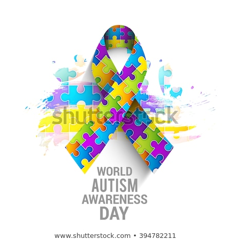 Autizmus tudatosság nap naptár ünnep ikon Stock fotó © Olena