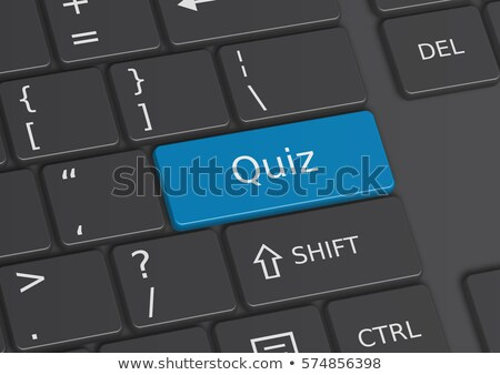Web Development CloseUp of Blue Keyboard Button. 3D. Stock photo © tashatuvango