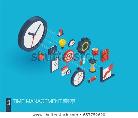 controlling on watch 3d illustration stock photo © tashatuvango