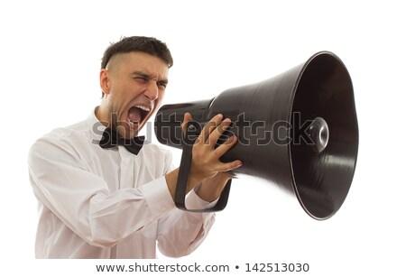 Young caucasian angry groom screaming. Stock photo © RAStudio