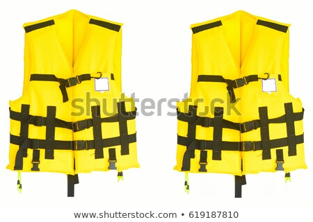 The man in life jacket isolated on white Stock photo © Elnur