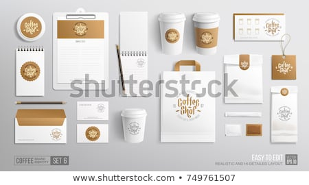 Coffee cup packaging mock up Vector realistic. Stock photo © frimufilms
