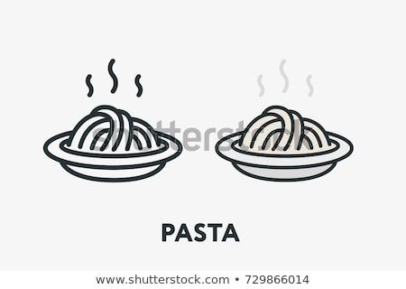 cucina · italiana · line · design · stile · banner · bianco - foto d'archivio © olena