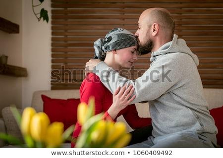 Csók mell fiatal pér készít szeretet nő Stock fotó © Pilgrimego