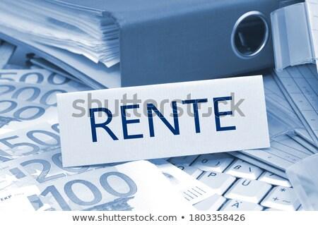 folder register with rent 3d stock photo © tashatuvango