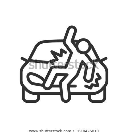Coche blanco negro vector simple ilustración signo Foto stock © vectorworks51