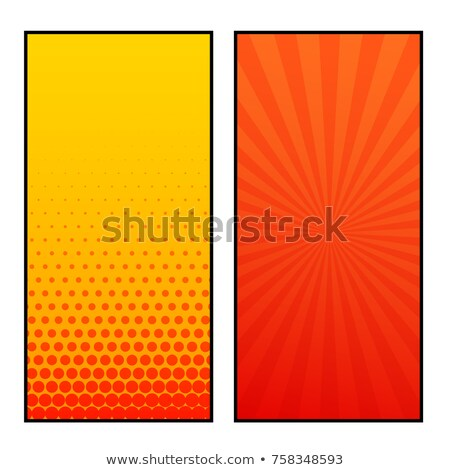 two vertical comic pages style banner design stock photo © sarts