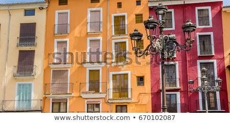 Mercado cuadrados España edificios antigua ciudad Foto stock © smartin69